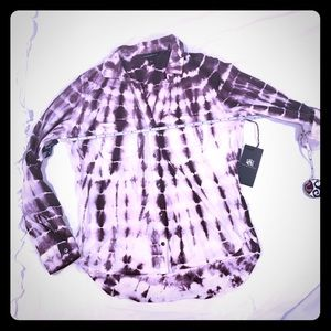 **NWT** Rock and Republic button up tie dye Small